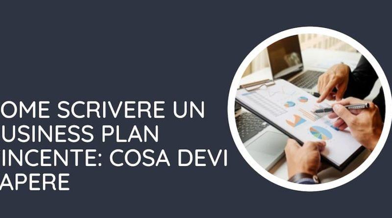 Schema su come scrivere un business plan vincente